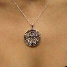 Outlander Inspired Compass Silver Pendant   Scottish Jewellery
