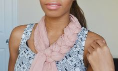 Learn how to braid your scarves via Spark & Chemistry