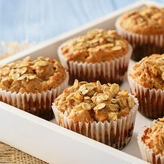 Do you love quick and easy muffins made from scratch? I am sharing several recipes today that I have baked for years. Apple Cinnamon Muffins, Cinnamon Oatmeal, Oat Muffins, Cinnamon Apples, Appel Muffins, Healthy Muffin Recipes, Healthy Muffins, Lunch Snacks, Almond Recipes