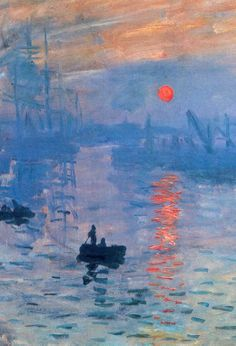 Claude Monet. Impression, sunrise, 1873. iOS 7 ready.