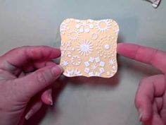 Heat Embossing Over Dry Embossing
