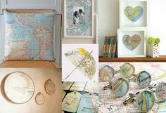 """""""home is wear the heart is"""" map heart in frame and other assorted map(diy)quests"""