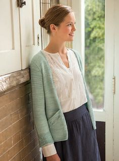 Ravelry: Lace-Leaf Pocket Cardigan pattern by Quenna Lee