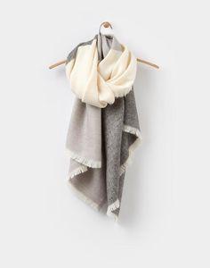 Berkley Soft Grey Scarf , Size One Size   Joules US