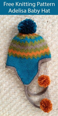 Baby Sweater Patterns, Baby Knitting Patterns, Baby Patterns, Free Knitting, Knitted Hats, Crochet Hats, Aran Weight Yarn, I Cord, Lion Brand Yarn