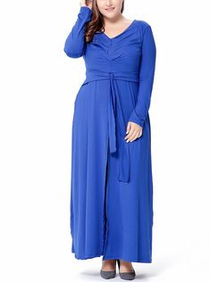 698f5d4c55bb4 2018 New VICTORIA's Simple Maxi Casual Dress with Long Sleeves and Printed  Front Panel | Dresses in 2018 | Dresses, Crew neck, Tribal dress