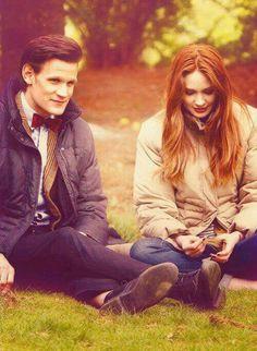 Doctor Who BTS - Matt Smith and Karen Gillan