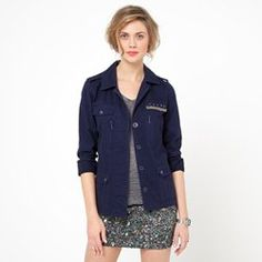 Veste pur coton brodée dos Denim, Jackets, Style, Tops, Fashion, Spring Summer 2015, Jacket, Cotton, Fashion Ideas