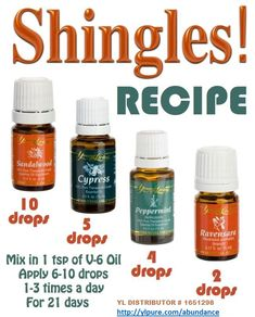 Young Living has Essential Oils to help you get Relief from Shingles!  Order Today! http://ylpure.com/abundance