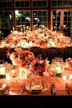 Give your indoor reception a warm glow