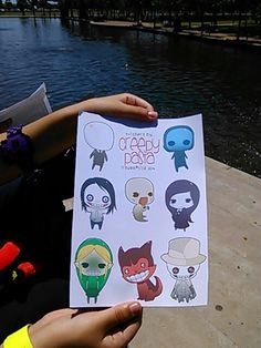 I went to Comic-Con and got these awesome stickers for only $5 its Slender man, Eyeless Jack, Jeff the killer, BOB(I think), Jane the killer, Ben drowned, Smile dog, and Skin taker