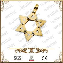 Star of David Gold Filled Stainless Steel Pendant Chakra Jewelry