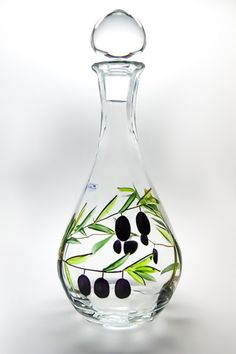 Oliva Hand Painted Hand Blown Wine Decanter 13 by HomeStoreDeluxe, $55.00