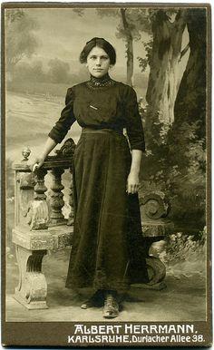 CDV Portrait of a young woman - Germany - c.1910 by Patrick Bradley 70, via Flickr