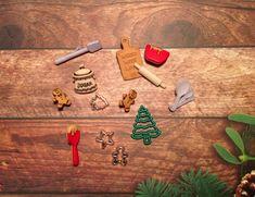 Destash, Christmas buttons, christmas supplies, cookie cutter buttons, buttons, Christmas cookie buttons, Christmas embellishments by PinkyPromiseBargains on Etsy