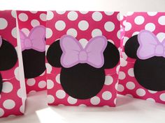 Pack of 4 Minnie Mouse Birthday Party Favor by WildvineUnlimited