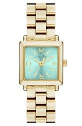 MARC BY MARC JACOBS 'Katherine' Square Dial Bracelet Watch, 19mm