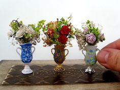 Items similar to Miniature baroque vase for dolls on Etsy