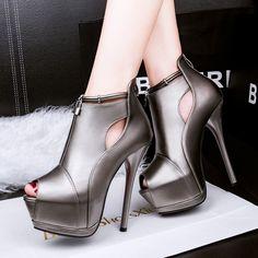Бесплатная доставка 2016 весна новая мода водонепроницаемый peep toe тонкие каблуки женской обуви насосы купить на AliExpress