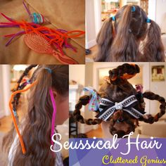 """Creating """"Seussical"""" Hair and Make up Dr. Seuss, Dr Seuss Who, Crazy Hair Day At School, Crazy Hair Days, Swag Style, Whoville Hair, Whoville Christmas, Christmas Mood, Seussical Costumes"""
