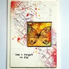 Mixed Media on Ampersand stampbord and watercolor paper Sanda Reynolds