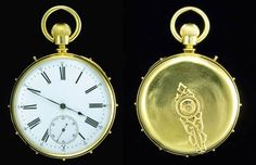 Helen Keller's Pocket Watch; This unusual 'touch' watch, was given to Helen Keller at age 12 by John Hitz, a retired diplomat.  On the backside of the watch is a revolving hand which stops at a point between the pins around the outside corresponding to the hour and minute, making it possible to feel the approximate time in the dark or, in the case of a diplomat like Hitz, discreetly. Hitz presented the watch to Keller, who  used it her entire life. #Helen_Keller #Watch #Smithsonian…