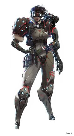 ArtStation - Cyberpunk Mercenary, David Kaye