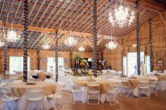 Sweet Apple Farm the Crystal Chandelier Barn in Pell City, AL  $1,200-$3,200 - $1,200 for Mon-Thurs w/4 hr minimum or $3,200 to rent on a Sat. for 8 hrs. Both prices include inside tables/chairs, prep kitchen, attached pastures, Pergola Wedding Stage/Pond/Bridge, Bride's Dressing Room, wedding Coordinator, Parking Attendants and you can cater your own wedding too