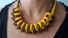 Statement Ketten - JuLimone - Kette erfrischend gelb - ein Designerstück von Patikreli bei DaWanda