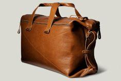 LEATHER WEEKEND BAG  Men's leather weekend bag & portfolio by Hard Graft.