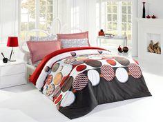 Pościel satynowa Valentini Bianco Limited Edition ROMANCE RED, 160x200 + 2x 70x80 cm oraz 220x200 + 2x70x80 cm, 100% bawełna.