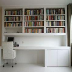 Afbeeldingsresultaat voor boekenkast met bureau