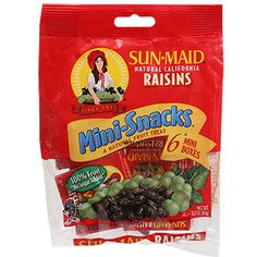 Snack smarter! 0.5-oz. boxes of 100% natural raisins is a high energy, low-fat snack you can take and eat anywhere and with no clean up required. Perfect for packing in lunches, backpacks and purses t