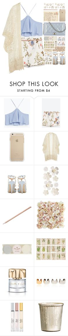 """""""""""Kimono Cool"""" - Contest"""" by arierrefatir ❤ liked on Polyvore featuring Zara, Chanel, Anna Sui, Valentino, Pier 1 Imports, Kate Spade, Nasty Gal, Maison Margiela, Vince Camuto and H&M"""