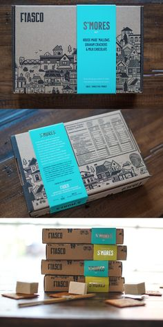 Packaging Inspiration Eh, I Like this ! Fiasco Gelato S'mores Kit by Marc Rimmer Food Box Packaging, Kraft Packaging, Cool Packaging, Food Packaging Design, Packaging Design Inspiration, Design Logo, Label Design, Box Design, Package Design Box
