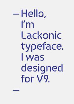 Lackonic Typeface on Behance