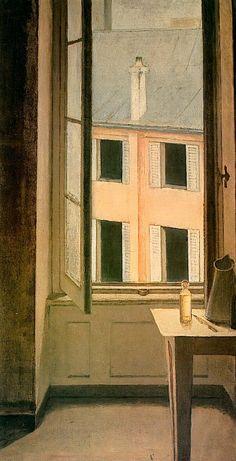 I love this by Balthus, Window, Cour de Rohan 1951 Edward Hopper, Window Art, Open Window, Culture Art, Art Et Illustration, Illustrations, Art Database, Art Moderne, Modern Artists