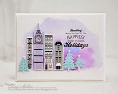 City Scene- Papertrey Ink, Happiest of Holidays: PTI,  winter, My Joyful Moments