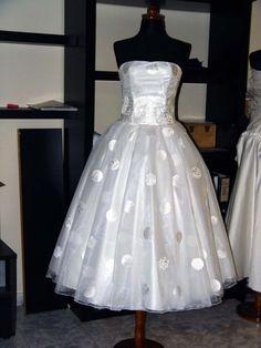 Polka Dot Wedding Dress by atelierTAMI on Etsy, $530.00... SOOOO CUTE!!!!