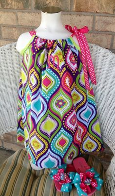 Monogrammed Personalized Pillowcase Dress with by Sewmomx3 on Etsy, $22.00
