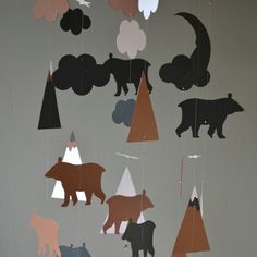 The awesome bear and mountain mobiles are back!!