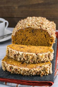 Pumpkin pecan bread baking in the oven means it's finally Fall! Whip some up to make your house smell delicious.
