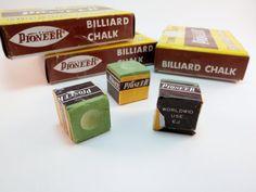 Vintage Pool Cue Chalk Billiards Chalk Pioneer by WildPlumTree, $5.50
