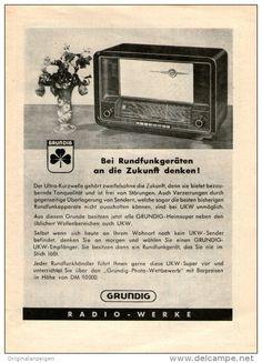 Original-Werbung/Inserat/ Anzeige 1950 - 1/1-SEITE GRUNDIG RADIO-WERKE - ca. 230 X 150 mm