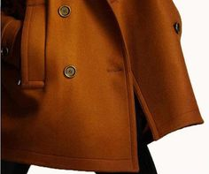 Camel is back for Fall! Brown twill Wool coat double breasted button  by colorstore2011, $62.99 #etsy