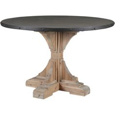 Gather friends and family around this lovely pedestal table to enjoy boisterous brunches and festive special occasions. A carved wood base adds a touch of co...
