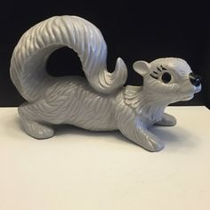 Cute Grey Squirrel ceramic -Big Eyes and Long eyelashes make this little guy the most adorable squirrel ever!