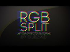 RGB Split Transition Tutorial | After Effects - YouTube