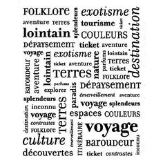 Tampon+bois+-+Pêle+mêle+voyage+-+9,3+x+7,3+cm