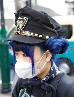 mask and cop hat <3